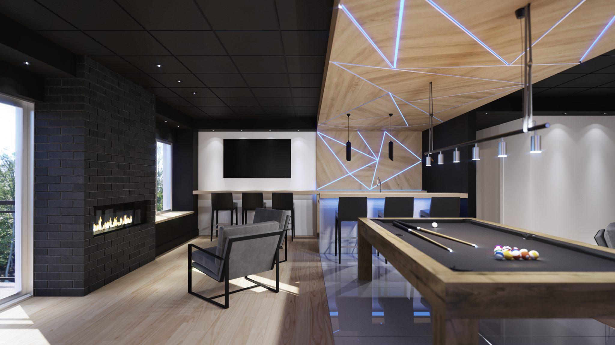 Lounge - Condos neufs a vendre à Mirabel - Skyblü