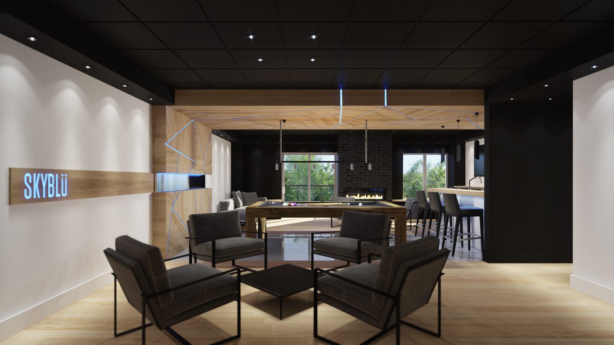 Lounge - Skyblu Condos | Condos neufs a vendre